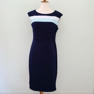 Connected Apparel Dress Navy Blue Size 10